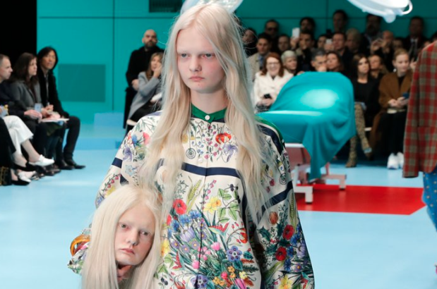 Gucci Models Lose Their Heads on the Runway (Literally)