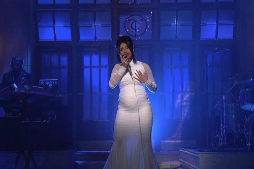 Cardi B Finally Unveils Baby Bump While Performing on SNL