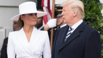 Donald and Melania Trump Share Another Awkward Hand-Holding Moment