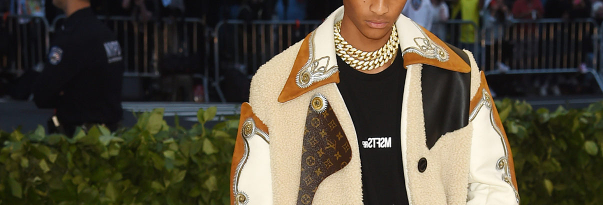 "Jaden Smith's Gold Plaque for ""Icon"" Was His Date to the Met Gala"