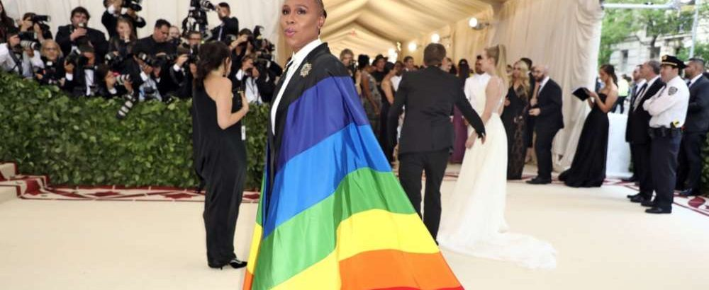 Lena Waithe Rocked a Pride-Flag Cape at the Catholic-Themed Met Gala