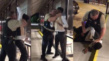 This is America: White Police Officer Choke Slams Black Man Outside of Waffle House