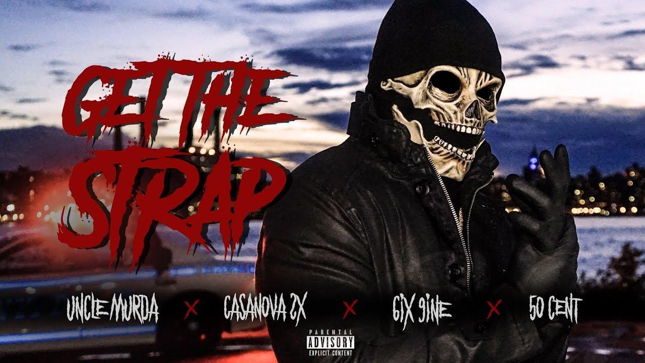 "Uncle Murda, 50 Cent, Tekashi 6ix9ine & Casanova Spray Bullets In ""Get The Strap"" Video"