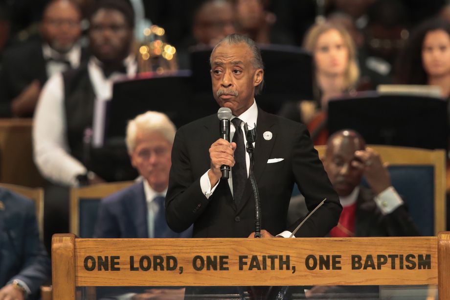 Al Sharpton Slams Donald Trump at Aretha's Funeral for Saying she Worked for him