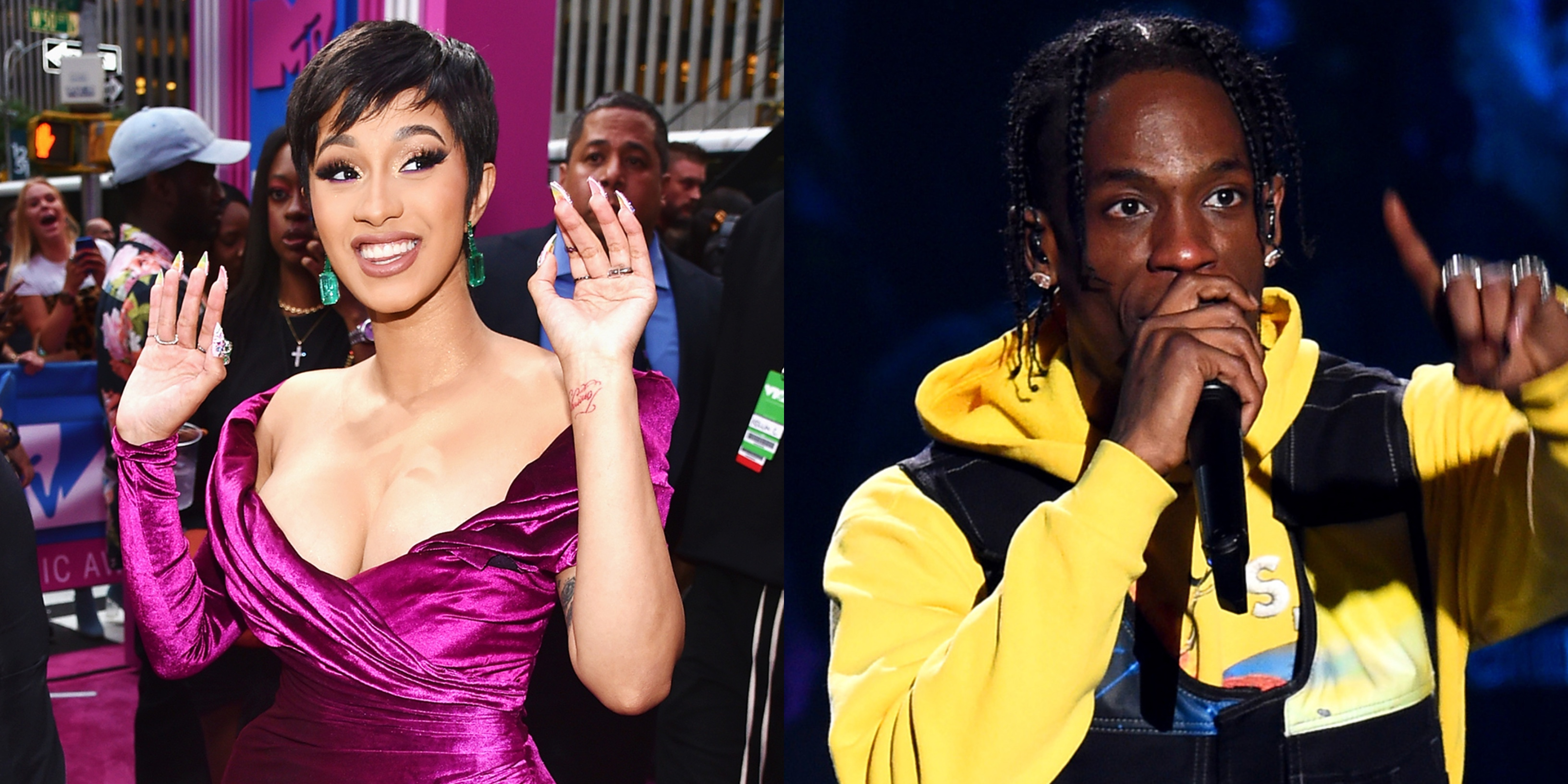 Cardi B, Travis Scott Rumored to Perform at 2019 Super Bowl Halftime