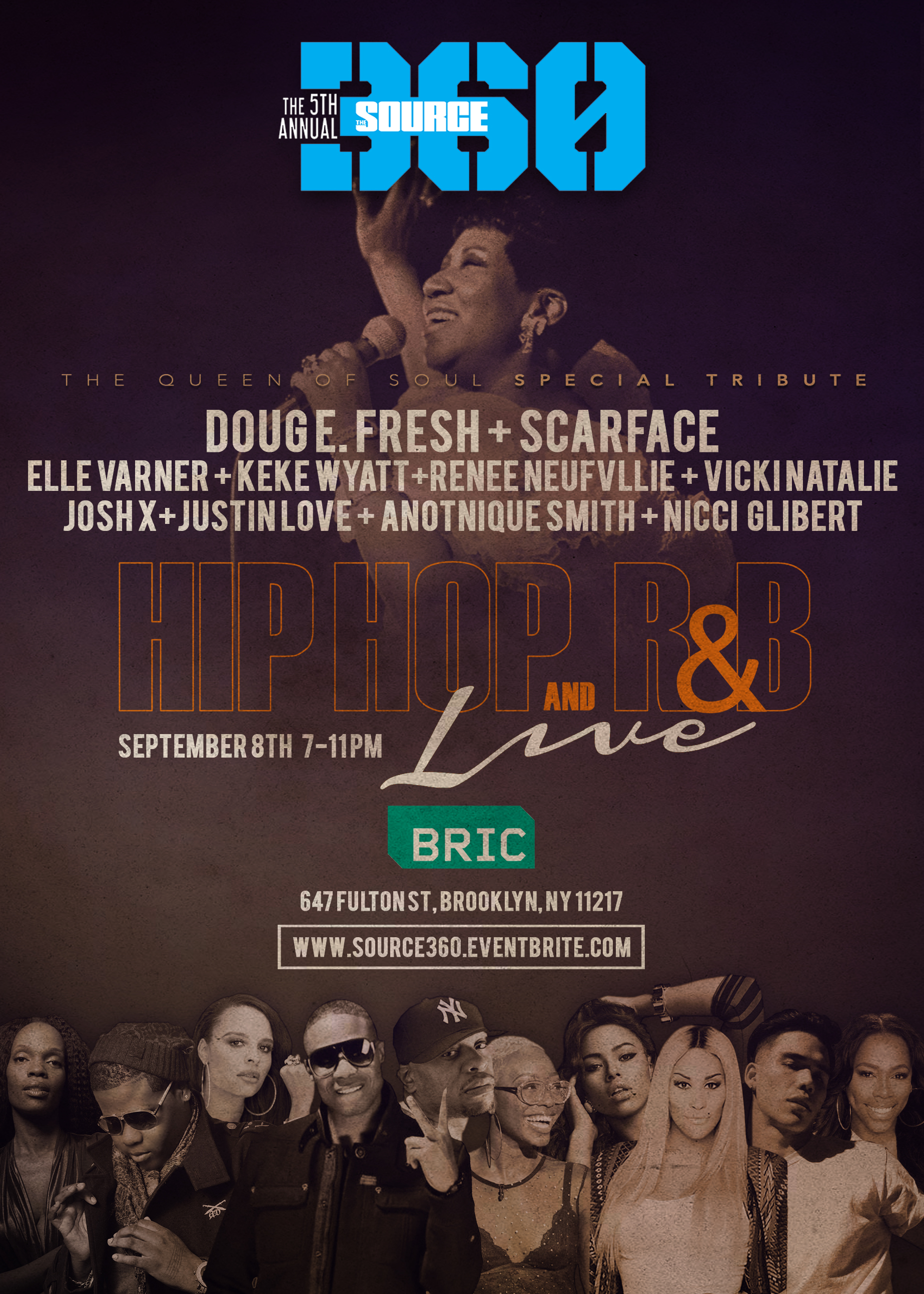 Doug E. Fresh, Scarface, Elle Varner, KeKe Wyatt & More to Honor Aretha Franklin at 5th Annual SOURCE360 Festival & Music Conference