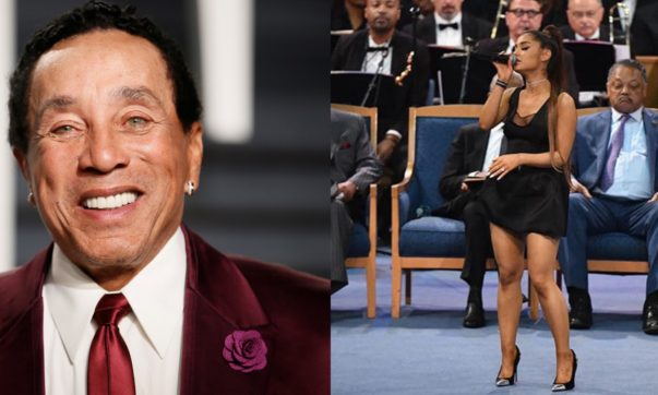 Smokey Robinson Agrees That Ariana Grande's Dress During Aretha Franklin's Funeral Was Inappropriate