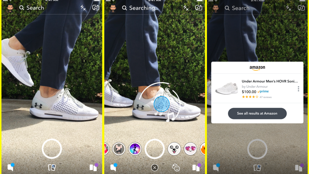 Snapchat Gets Visual Product Search Powered By Amazon