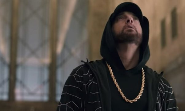 Eminem Performs 'Venom' From Empire State Building on 'Jimmy Kimmel Live!'