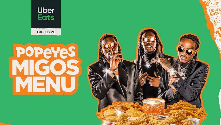 Migos, Popeyes, Uber Eats Join Forces to Launch 'Migos Menu'