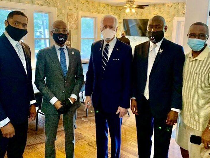 Joe Biden Links Up With George Floyd's Family in Houston