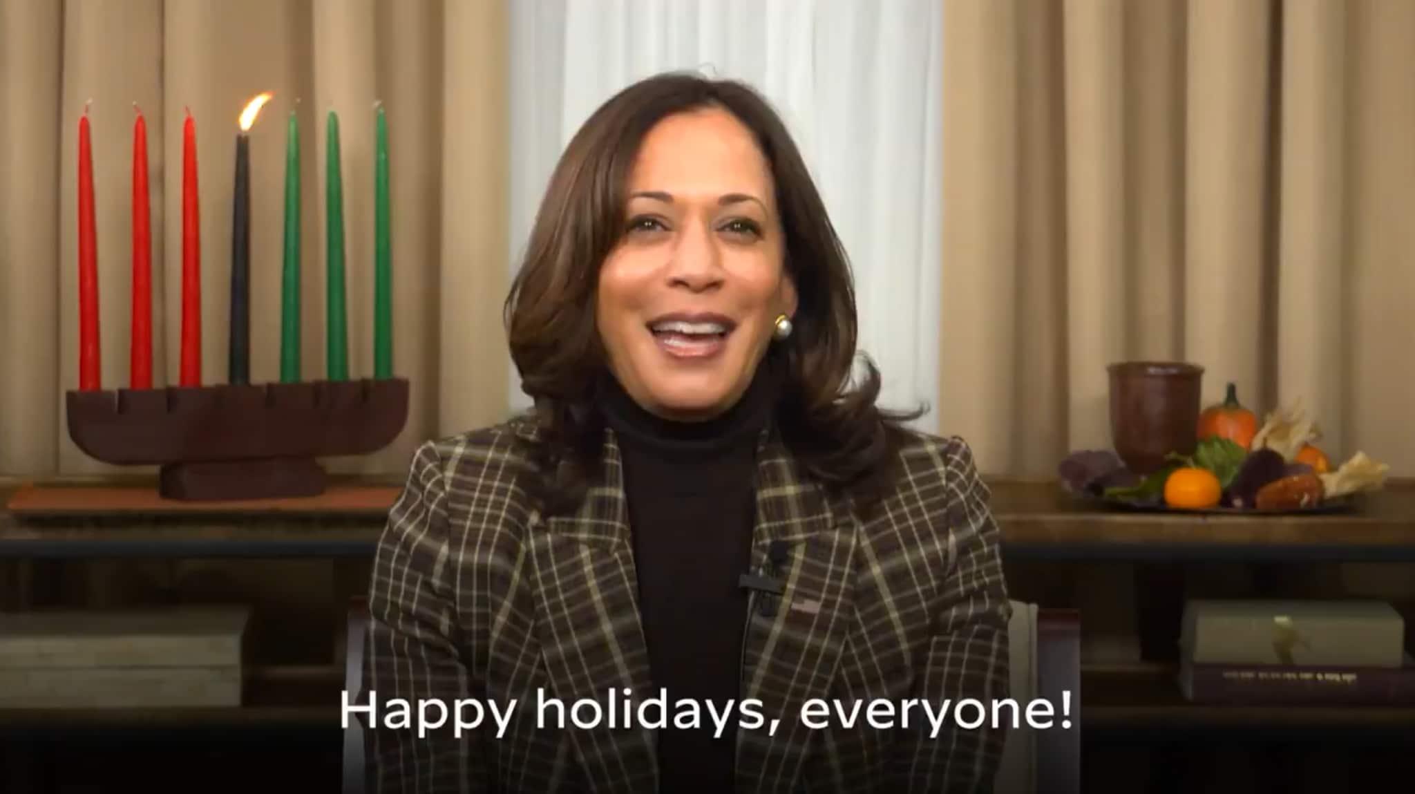 Kamala Harris Virtually Celebrates Kwanzaa